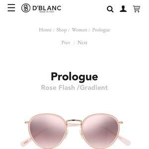 D'Blanc Prologue Womans Pink Sunglasses NEW